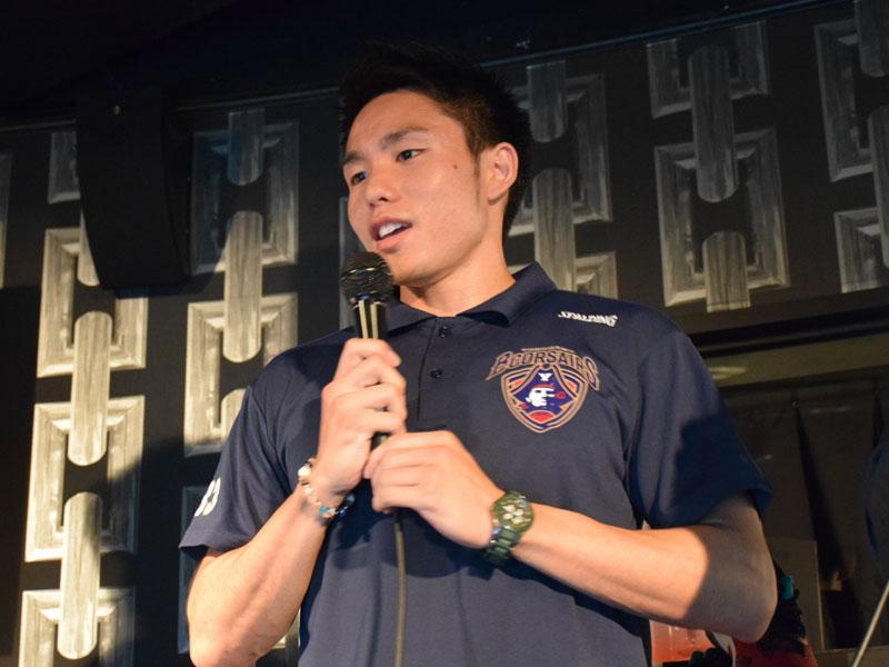 現役Bリーグ選手、横浜ビー・コルセアーズの喜久山も登場