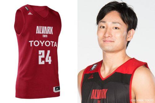 「みんなで決めよう! アルバルク東京3rdユニフォーム」デザイン5. 田中大貴