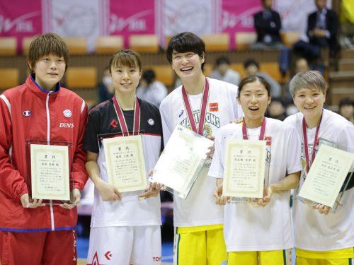 吉田がプレーオフMVPを獲得、年間ベスト5にはJX-ENEOSから3名、栗原と高田も選出