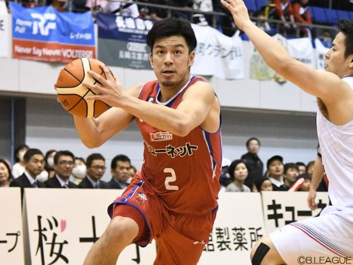 B2熊本の古野が鹿児島戦で13アシストをマーク、Bリーグの1試合最多記録を更新