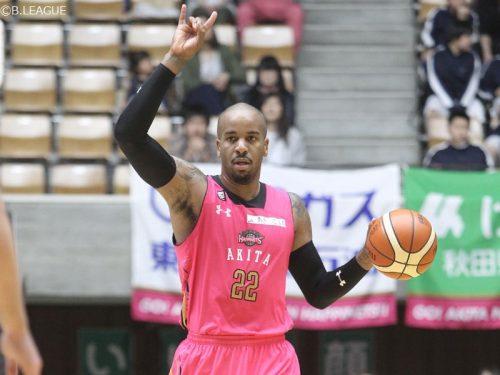 秋田がライオンズと契約継続、今季は途中加入で1試合平均15.8得点を記録