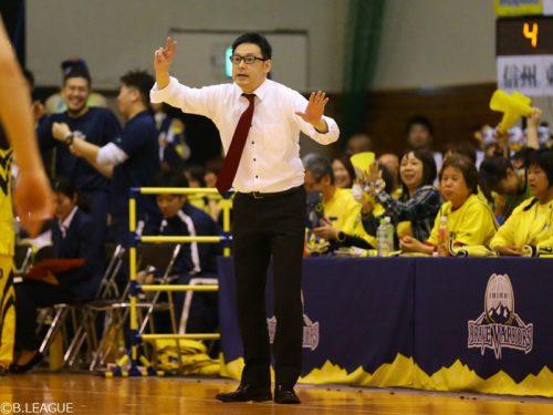 信州が小野寺HCの続投を発表「泥臭く粘り強いチームを作る」