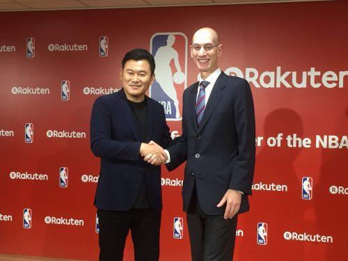 楽天がNBAと複数年のパートナーシップ契約を締結、日本国内における放映権と配信権を獲得