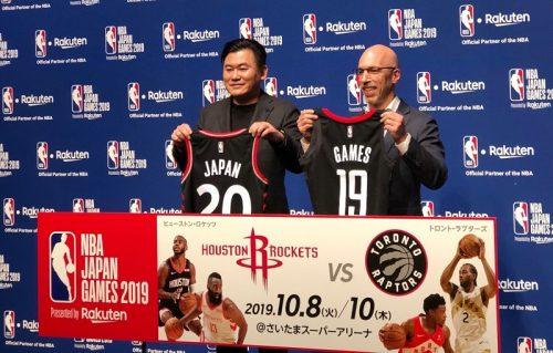 ジャパンゲームズを発表した楽天、三木谷社長「NBAの凄まじい盛り上がりを見てほしい」