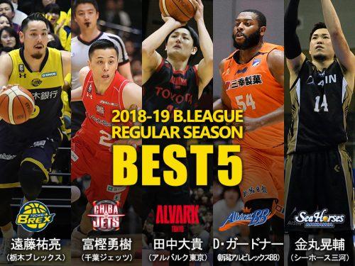 ベスト5発表、遠藤祐亮とガードナーが初受賞…田中大貴ら3人は3年連続