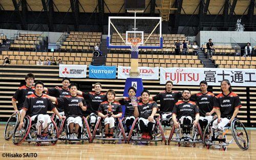 車いすバスケ男子日本代表、4戦全勝で完全優勝!