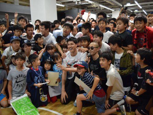 渡邊雄太、子どもたちへメッセージ「夢に向かって一生懸命努力してもらえれば」