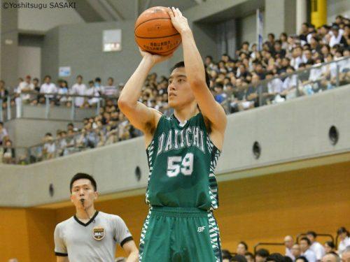 鼻骨骨折も強行出場…福岡第一のシューター山田真史、インターハイ決勝で5本の3Pを記録