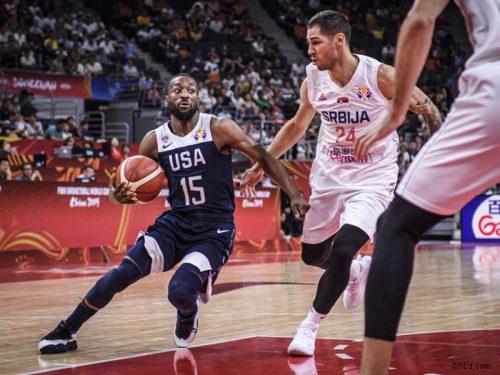 アメリカが屈辱の2連敗、序盤の大量ビハインドが響きセルビアに敗れる