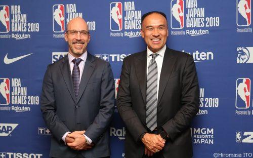 「今後、NBAとBリーグで協力させていただきたい」とNBA副コミッショナーが言及
