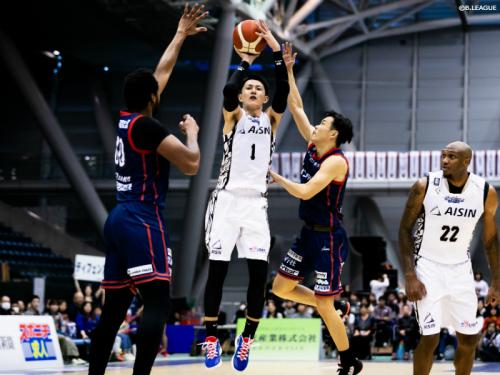 川村卓也と金丸晃輔で35得点をマークしたシーホース三河、横浜ビー・コルセアーズに連勝