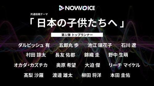 トップランナーたちの声が聞ける音声サービス「NowVoice」が開始、バスケ界からは渡邊雄太が参加