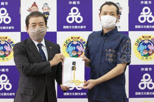 琉球ゴールデンキングス、沖縄市の子ども達へ寄附金贈呈…マスク購入資金へ