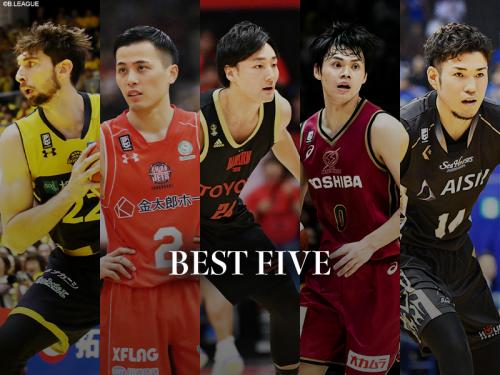 Bリーグベスト5を発表…藤井祐眞とロシターが初受賞、田中大貴ら3選手は4年連続