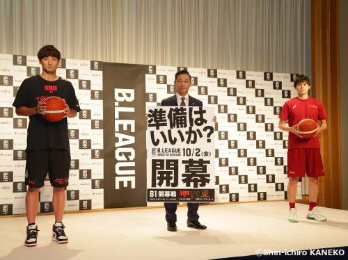 Bリーグ開幕戦を戦うA東京と川崎、田中大貴と藤井祐眞が意気込みを披露