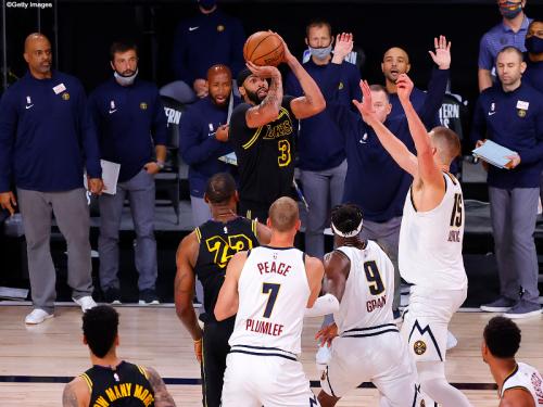 "【NBAプレーオフ30日目】アンソニー・デイビスの""劇的弾""でレイカーズが勝利、ナゲッツは終盤の猛追も1歩及ばず連敗"