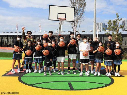 秋晴れの東京で日本を代表する3選手が小中学生にレッスン。新施設「TOKYO SPORT PLAYGROUND SPORT×ART」に注目!