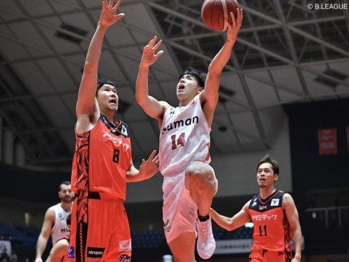 大阪が三遠との1点差の好ゲームを制す…橋本が決勝点を含む25得点の大活躍