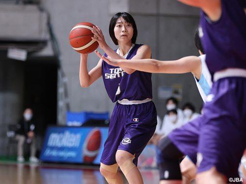 リバウンドを制した東京成徳大、精華女子相手に100点ゲームの圧勝