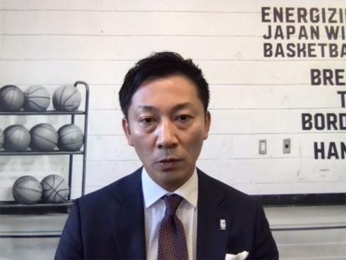 Bリーグ島田チェアマンが記者会見を開催。「リーグ戦を最後まで続けることにベストを尽くすことを約束する」