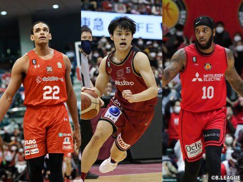 セバスチャン・サイズ、藤井祐眞、レオ・ライオンズがノミネート…Bリーグ2月度月間MVPは誰の手に?