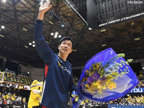 今季かぎりで引退の竹田謙が宇都宮のファンにお別れ…「横浜アリーナで待っています」