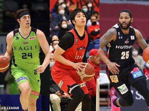 メイヨ、岡田、ニュービルがノミネート…Bリーグ3月度月間MVPは誰の手に?