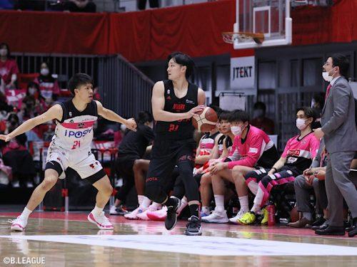 終盤にリードを拡大したA東京が秋田に勝利…田中が14得点の活躍