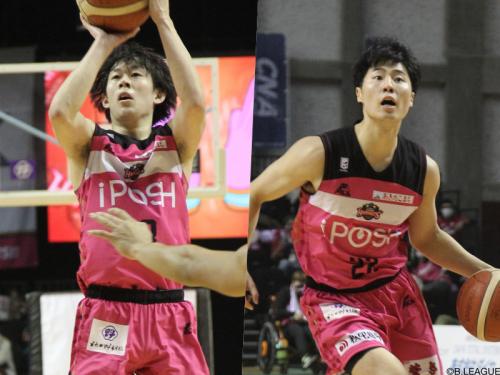 秋田ノーザンハピネッツが大浦颯太、多田武史と2年契約を結んだと発表