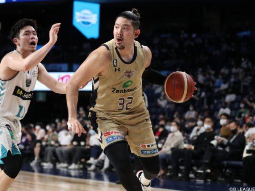 琉球が満原優樹と契約継続…今季51試合の出場で平均2.4得点1.9リバウンド