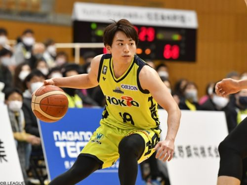 信州が大崎裕太との契約継続を発表…今季42試合で平均5.6得点
