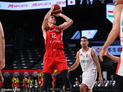 日本代表がハンガリーに完勝…キャプテン渡邊雄太が25得点と躍動