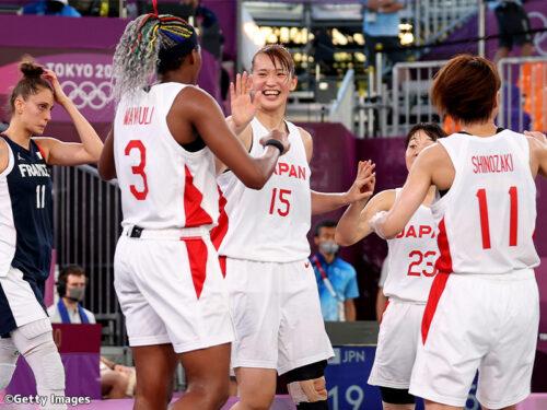 3x3女子日本代表が逆転勝利で大会3勝目…OQTで敗れたフランスにリベンジ成功