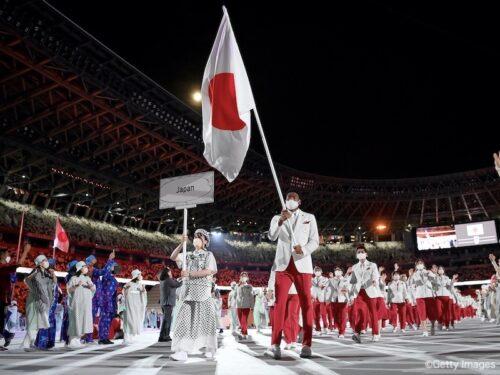 開会式で日本選手団の旗手を務めた八村塁「昨日は忘れられない夜でした!」