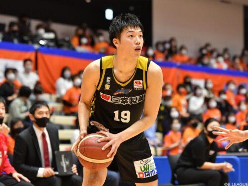 西田優大がシーホース三河へ入団…昨季は新潟で28試合に出場