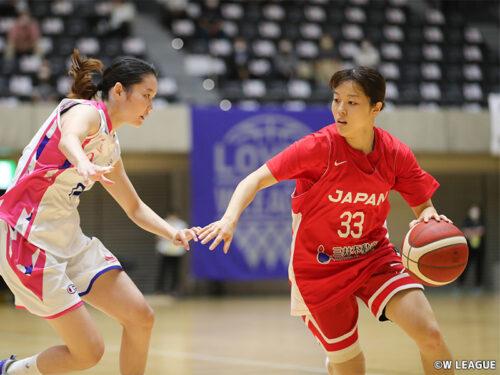 女子日本代表がシャンソン化粧品に辛くも勝利…山本麻衣が4本の3P含む18得点の活躍